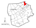 Map of Luzerne County, Pennsylvania Highlighting Exeter Township.PNG