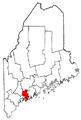 Map of Maine highlighting Sagadahoc County.png