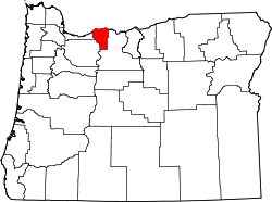Map of Oregon highlighting Hood River County.svg