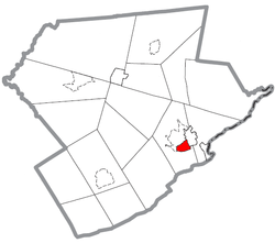 Location of Stroudsburg in Monroe County