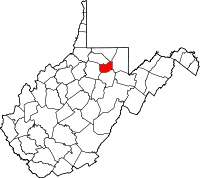 Map of West Virginia highlighting Taylor County.svg