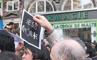 Je suis Charlie - With symbols of the three main Abrahamic religions