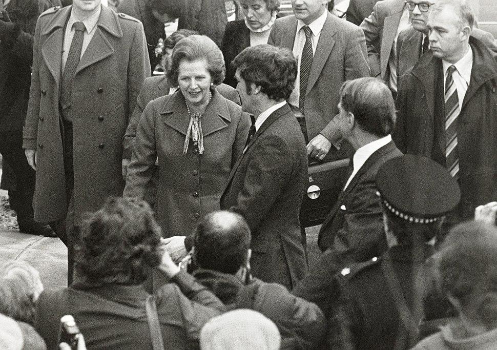 Margaret Thatcher visiting Salford