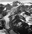 Margerie Glacier, tidewater glacier, icefall, and hanging glaciers, August 24, 1963 (GLACIERS 5619).jpg