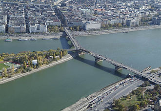 Margaret Bridge - Margaret Bridge, aerial photo