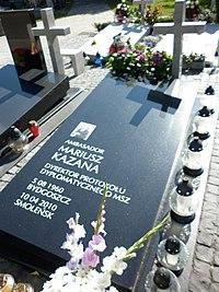 Mariusz Kazana grób.JPG