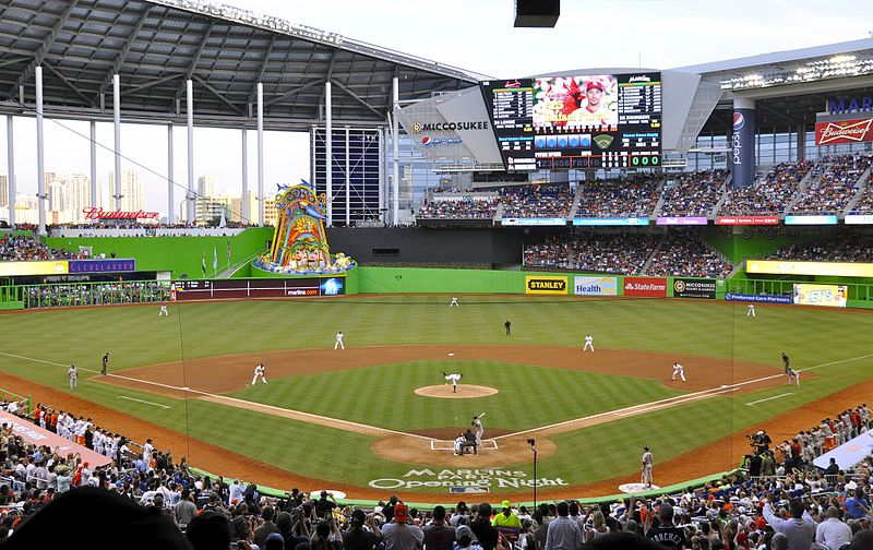 File:Marlins First Pitch at Marlins Park, April 4, 2012 (cropped).jpg