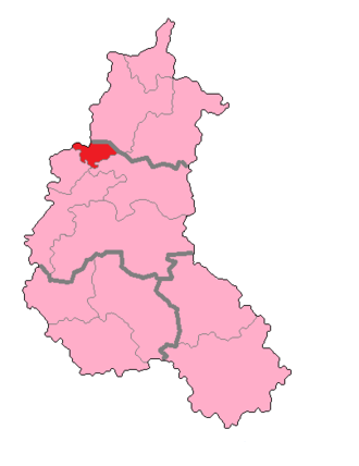 Marne's 1st constituency - Marne's 1st Constituency shown within Champagne-Ardenne.