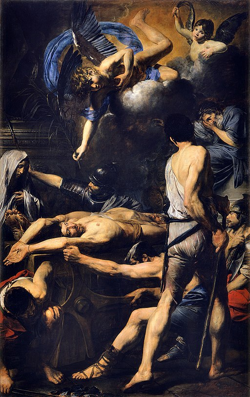 Martyrdom of St Processo and St Martiniano, by Valentin de Boulogne