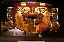 Mascara lambayeque ( museo de Sican)