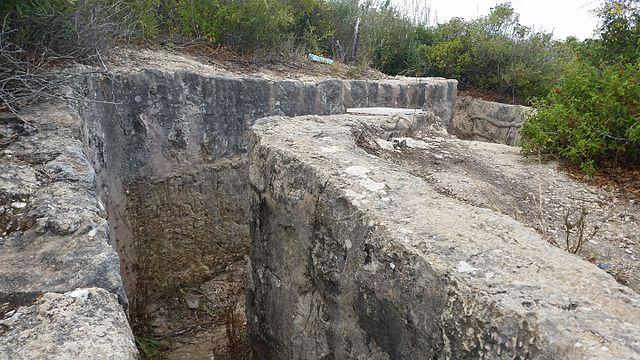 תעלת קשר, לא רחוק מחורשת הארבעים, הר הכרמל [ויקיפדיה] - הפודקאסט עושים היסטוריה עם רן לוי