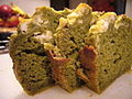 Matcha and banana bread with cream cheese, December 2006.jpg