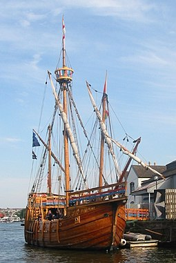 A replica of the Matthew, John Cabot's ship used for his second voyage to the New World Matthew-BristolHarbour-Aug2004.jpg