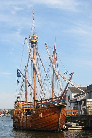 Anglican Church of Canada - The replica of John Cabot's ship ''Matthew''. The first cleric of the English Church sailed on her to North America in 1497.
