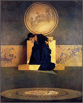 The Memory of Trees - The album's cover is based on The Young King of the Black Isles (1906) by Maxfield Parrish.