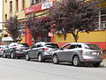 Mazdas- CX9 2008, CX5 2013, CX7 2012 (11318570495).jpg