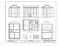 McKendree College, Old Main Building, College Square, Lebanon, St. Clair County, IL HABS ILL,82-LEBA,1A- (sheet 1 of 3).png