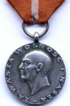 For our freedom and yours - The award 'Za wolność waszą i naszą' (communist general Karol Świerczewski)
