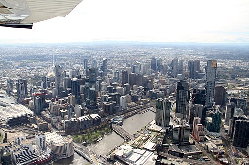 Melbourne skyline on 14 September 2013