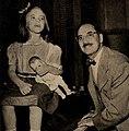 Melinda Marx and Groucho Marx, 1953.jpg