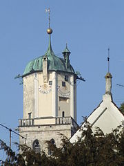 Bell tower of the St. Martin church, Memmingen.