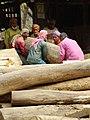 Men Sawing Logs - Chittagong Hill Tracts - Bangladesh (13185209593).jpg