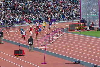 400 metres hurdles at the Olympics - The 2012 Olympic men's 400 m hurdles semi-final