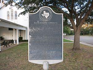 Mentz, Texas - Image: Mentz TX Marker