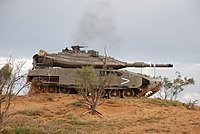 Merkava Mark IV of the 401st Brigade during a training exercise.