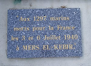 Mers el Kebir Memorial at Toulon, France.jpg