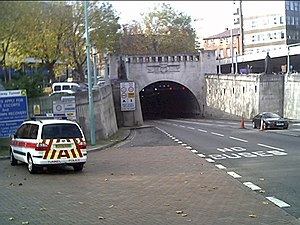 Mersey Tunnels Police - Mersey Tunnels Police car outside the entrance to one of the tunnels for which the police service is responsible