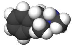 A 3d image of the methamphetamine compound