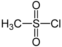 Methanesulfonyl chloride Structural Formulae.png