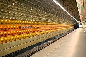 Hradčanská (Prague Metro) - Hradčanská metro station