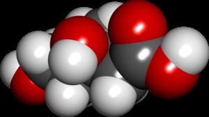 Mevalonic acid - Image: Mevalonic acid spacefill