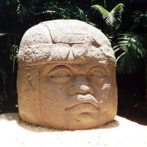 6th century BC - Monument 1, an Olmec colossal head at La Venta