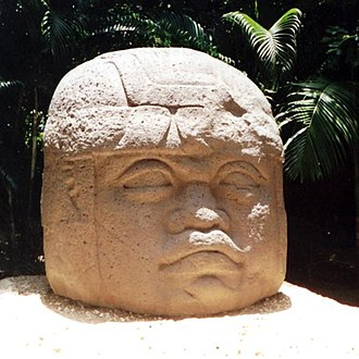 Olmec colossal heads - La Venta Monument 1