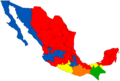 Mexico Governors Map January 2013.png