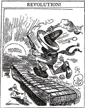 United States involvement in the Mexican Revolution - Image: Mexico on treadmill