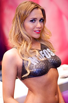 Mia Malkova tijdens 2014 AVN Adult Entertainment Expo.