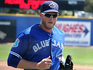 Michael Saunders - Saunders during 2016 spring training
