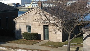 Naval Hospital Boston Historic District - The small ordnance building in 2009