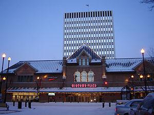 Midtown Plaza (Saskatoon) - Midtown Plaza main entrance showing the tower