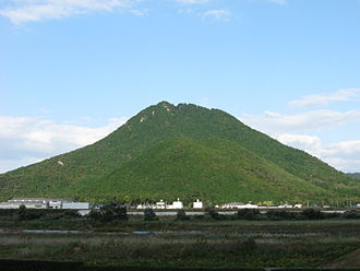 "Yasu, Shiga - Mt Mikami, a symbol of the city. Also called ""Omi Fuji"" from its form."
