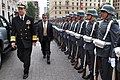 Mike Mullen with Chilean honor guard in Santiago 3-3-09.jpg