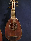 Milanese mandolin with 12 strings (6 courses)