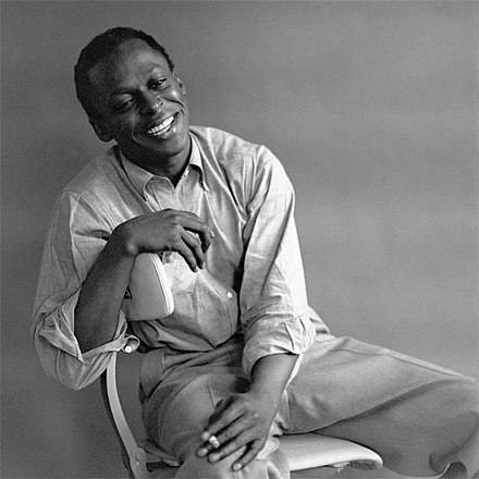 March 2: Jazz trumpeter Miles Davis. Miles Davis by Palumbo.jpg