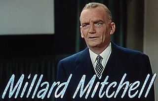Millard Mitchell American character actor