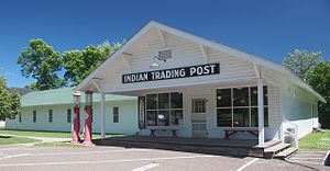 Mille Lacs Indian Museum - The restored Ayers trading post, now the museum's gift shop