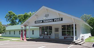 Mille Lacs Indian Museum and Trading Post - The restored Ayers trading post, now the museum's gift shop